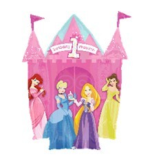 Princesses 1st Birthday Castle粉色公主城堡