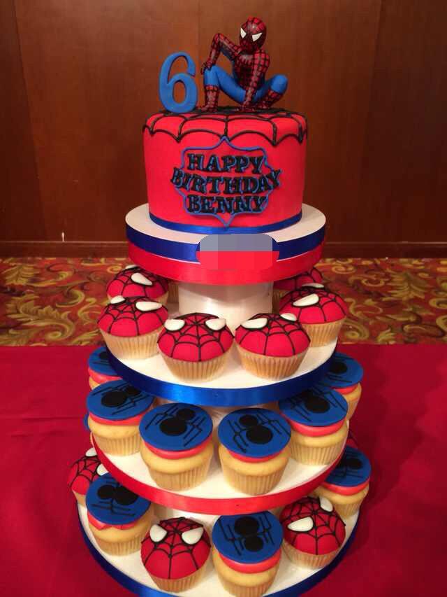 Spiderman Cake 蜘蛛侠翻糖蛋糕 Birthday Cake艺术生日蛋糕 上海辰强会务会展有限公司